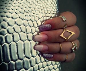 gold, nails, and ring image