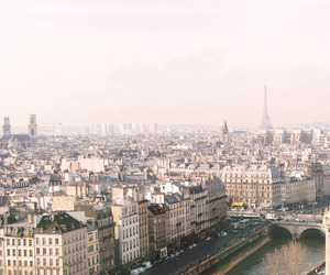 city, eiffel tower, and paris image