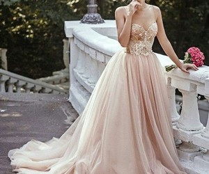 dress, gown, and pale image