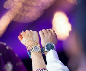 hands and watch image