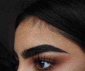 eyebrows, girl, and makeup image