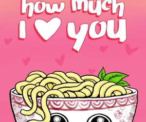 udon, 🍜, and cute image
