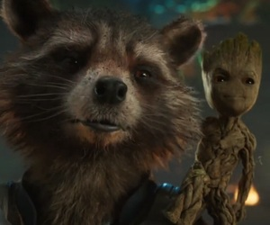 rocket, groot, and guardians of the galaxy image