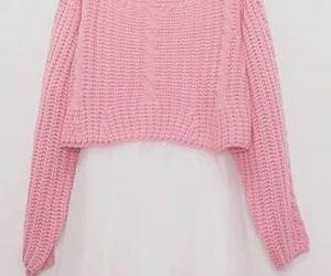 pink, skirt, and sweater image