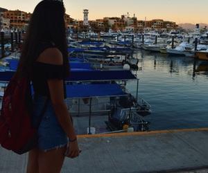 aesthetic, boats, and girl image