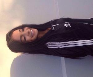 girl, smile, and adidas image