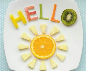 fruit, food, and hello image
