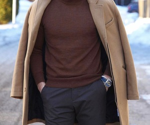 brown, classic, and coat image