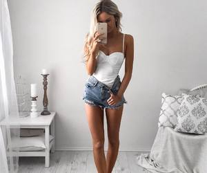 fashion, mirror selfie, and woman image