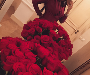 beauty, love, and red roses image