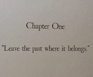 quotes, past, and book image