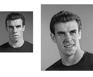 b&w, real madrid, and bale image