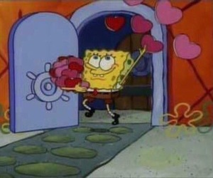 love, meme, and spongebob image