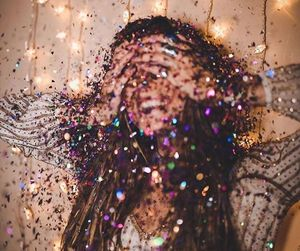 girl, glitter, and happy image