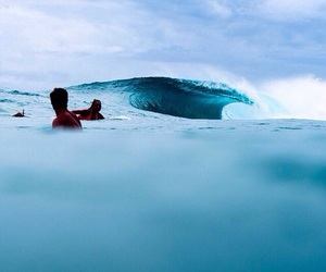 blue, ocean, and surf image