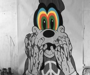 goofy, disney, and peace image