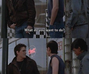 the outsiders, Ponyboy Curtis, and dallas winston image