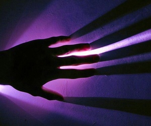 purple, aesthetic, and hand image