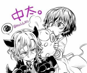 anime, chuuya, and bungo stray dogs image