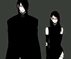 naruto, sasuke, and sarada image