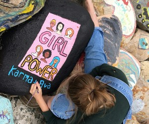 girl, artsty, and grl pwr ! image