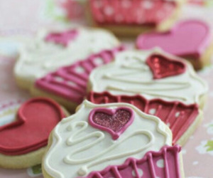 sweet, cupcake, and Cookies image