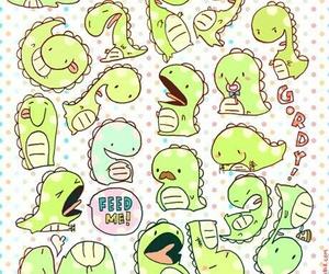 wallpaper, dinosaur, and green image