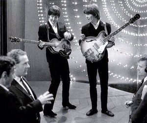 the beatles, 60s, and george harrison image