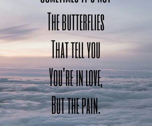 pain, qoute, and love image