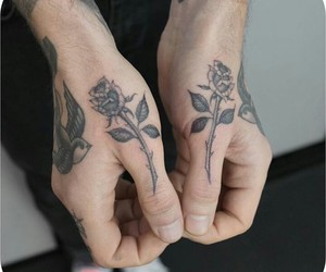 flowers, roses, and Tattoos image