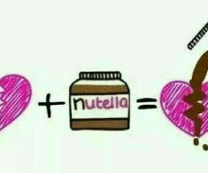 nutella, heart, and chocolate image