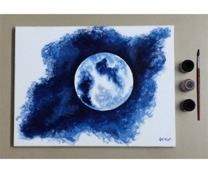 moon, tumblr, and canvas art image