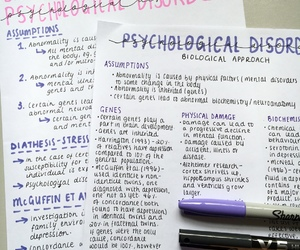 disorders, notes, and psychology image