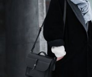 bags, leather, and coat image