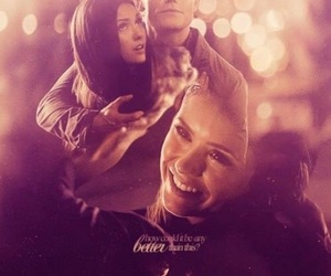 stefan salvatore, couple, and the vampire diaries image