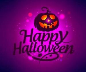 Halloween, happy, and violet image