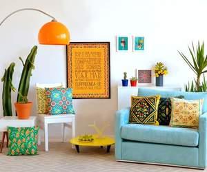 almofadas, cores, and sala image