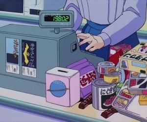 anime, food, and retro image