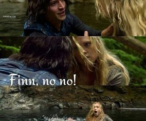 finn, clarke, and the 100 image