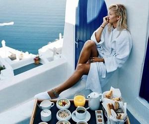 Amalfi, sea, and breakfast image