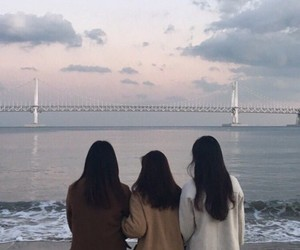 girl, friends, and aesthetic image