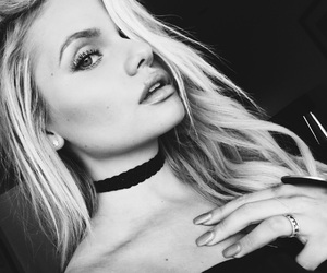 accessories, black clothes, and makeup image