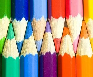 pencil, colorful, and colors image