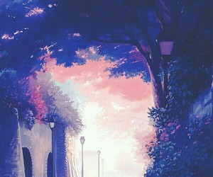 anime, draw, and anime scenery image