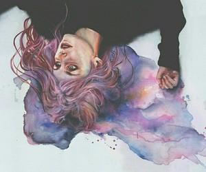 art, artist, and watercolors image