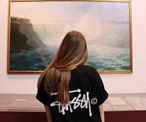 art, girl, and stussy image