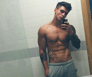 abs, fitness, and inked image