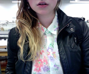 collar, fashion, and floral image