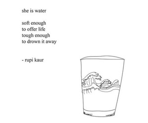 quotes, water, and rupi kaur image