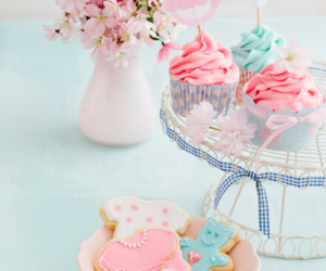 blue, pink, and baby shower image
